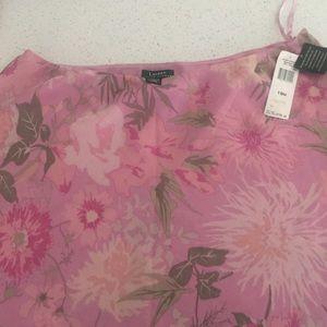 Ralph Lauren Pink Floral Skirt NWT.